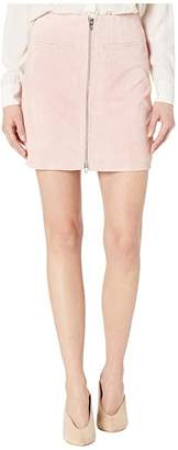 Blank NYC Real Suede Skirt with Zipper Detail in Pink Pearl