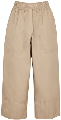 Lee Mathews Workroom sand cropped twill trousers