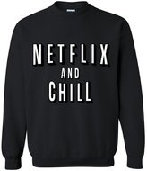 Artix Netflix and Chill Fashion People Couples Gifts Best Friend Gifts Unisex Crewneck Sweatshirt