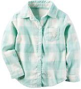 Carter's Baby Girl Checked Shirt