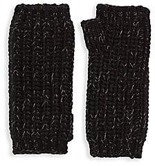 Portolano Women's Lurex Cashmere Knit Arm Warmers