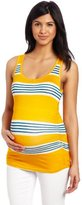 Lilac Maternity Women's Maternity Side Ruched Scoop Neck Tank Top