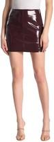 Blank NYC Blanknyc Denim Patent Faux Leather Mini Skirt