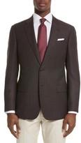 Armani Collezioni Men's Trim Fit Dot Wool Sport Coat
