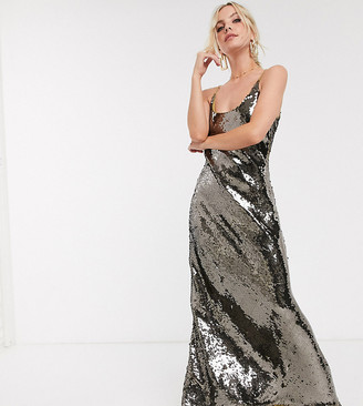 ASOS DESIGN Petite cami embellished maxi dress