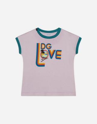 Dolce & Gabbana Jersey T-Shirt With Love Print