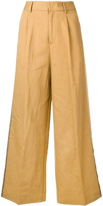 Forte Forte Side Panel Wide Leg Trousers