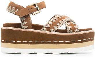Mou Platform Criss-Cross Sandals