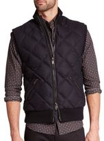 Michael Kors Quilted Wool-Blend Down Vest