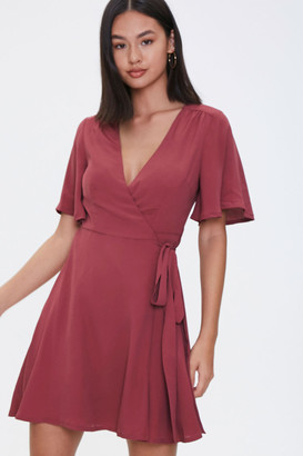Forever 21 Fit Flare Wrap Dress