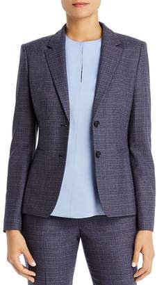 BOSS Julea Virgin Wool Crosshatch Blazer
