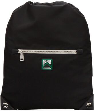 Prada Logo Patch Drawstring Backpack