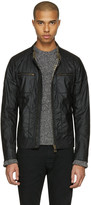 Belstaff Black Waxed Cotton Weybridge Jacket