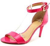 MICHAEL Michael Kors Sienna Md Open Toe Patent Leather Sandals.