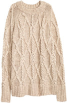 H&M Cable-knit Sweater - Light beige - Ladies