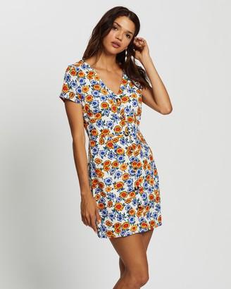 Glamorous Sunflower Print Dress