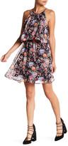 Soprano Popover High Neck Floral Dress