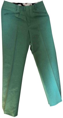 Fendi Green Cotton Jeans for Women