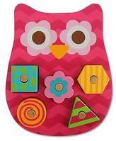 Stephen Joseph Shaped Wooden Peg Puzzle - Owl