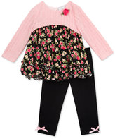 Rare Editions 2-Pc. Layered-Look Sweater Tunic & Leggings Set, Baby Girls'