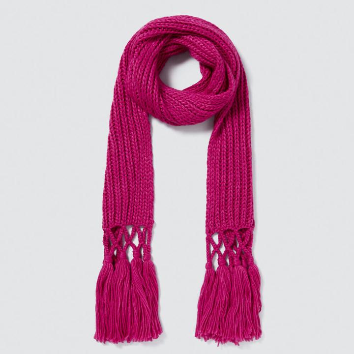 Seed Heritage Tassel Knit Scarf