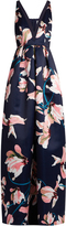 Erdem Ceren Kayo Lily-print duchess-satin gown