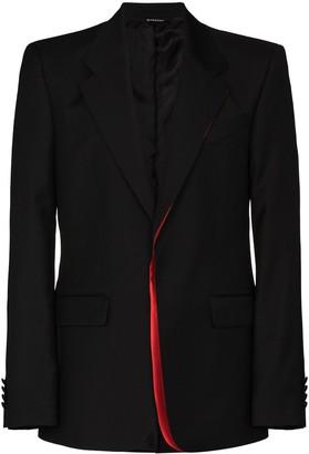 Givenchy Contrast-Trim Single-Breasted Blazer