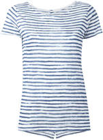 Majestic Filatures semi-sheer striped T-shirt