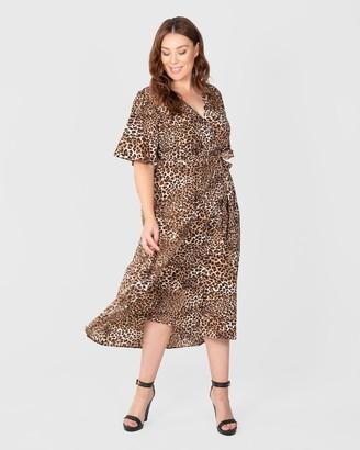 Love Your Wardrobe Leopard Print Maxi Dress