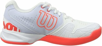 Wilson Women's Tennis Shoes KAOS DEVO CARPET W White/Light Blue/Red Size: 9 Synthetic Indoor/Carpet for All Types of Player WRS325680E090