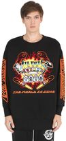 Kokon To Zai Pinball Patched Cotton Sweatshirt