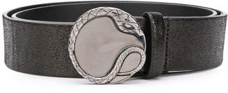 Just Cavalli Serpent Plaque Belt