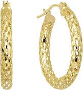 JCPenney FINE JEWELRY Infinite Gold 14K Yellow Gold Mesh Hoop Earrings