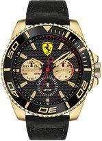 Ferrari Men's Chronograph Xx Kers Black Leather Strap Watch 50mm 0830419