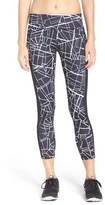Zella Women's 'Fly By' Print Running Midi Tights