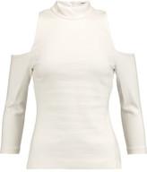 L'Agence Sasha Cold-Shoulder Stretch-Jersey Top