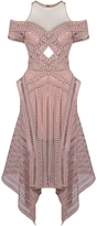 Thurley Sand Dune Illusion Cold Shoulder Dress