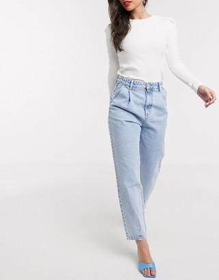 Stradivarius slouchy jeans in light blue