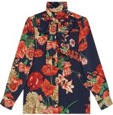 Gucci Spring bouquet silk shirt