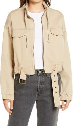 Tinsel Crop Utility Jacket