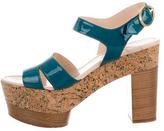 Kenzo Patent Leather Platform Sandals