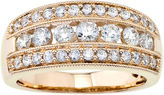 JCPenney FINE JEWELRY 1 CT. T.W. Diamond 10K Yellow Gold Band
