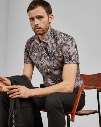 Ted Baker STEFAN Cotton tiger shirt