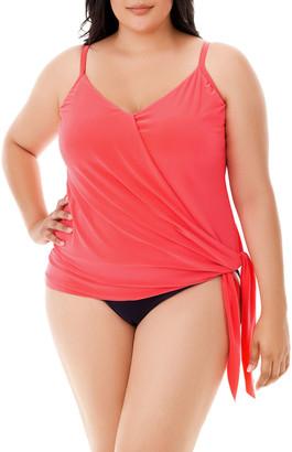 Magicsuit Plus Size Alex Tie-Side Tankini Swim Top