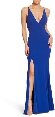 Dress the Population Iris Slit Crepe Gown