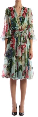 Dolce & Gabbana Chiffon Flora Dress