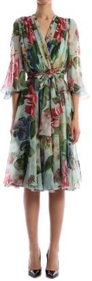 Dolce & Gabbana Chiffon Flora Dress