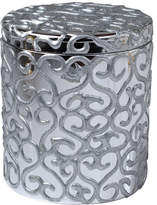 Mike and Ally Mike & Ally Jamila Glass Cotton Swab Jar, Silver