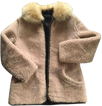 BEIGE Non Signe / Unsigned Shearling Jacket for Women