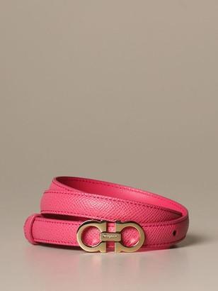 Salvatore Ferragamo Belt Gancini Belt In Score Leather